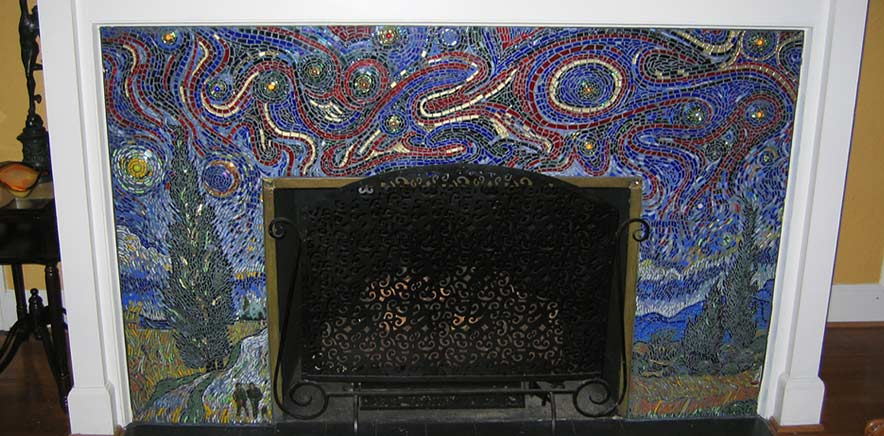 Residential Mosaics Fireplace Surrounds